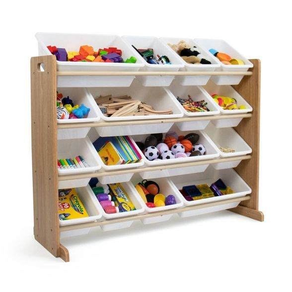 Kids Super Sized Toy Organizer Journey Collection Natural White Humble Crew In 2020 Toy Storage Organization Toy Organization Kids Storage