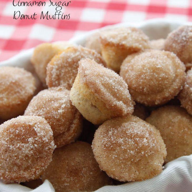 Cinnamon Sugar Donut Muffins Recipe Breakfast and Brunch, Breads with White Lily Flour, sugar, baking powder, salt, ground cinnamon, milk, eggs, butter, vanilla extract, butter, sugar, ground cinnamon