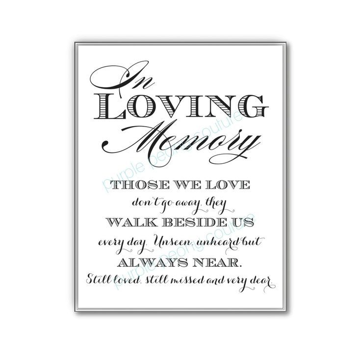 Remembrance Table At Wedding In Loving Memory Sign Memorial By Purplepeonycouture 5