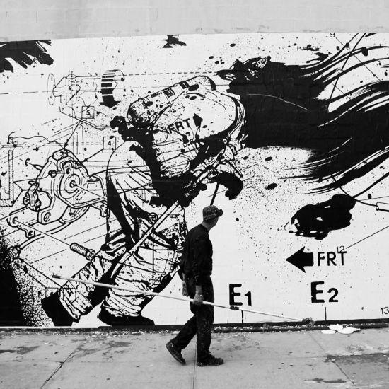 Wk interact for Daft punk mural