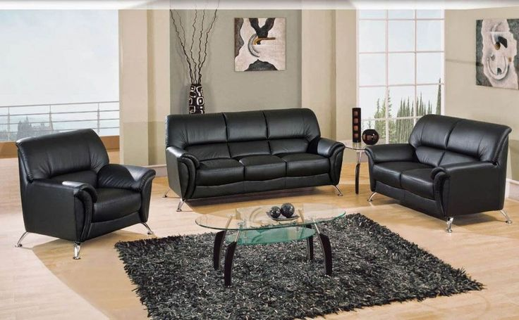 best 25 black leather sofas ideas on pinterest living room decor black leather sofa black. Black Bedroom Furniture Sets. Home Design Ideas