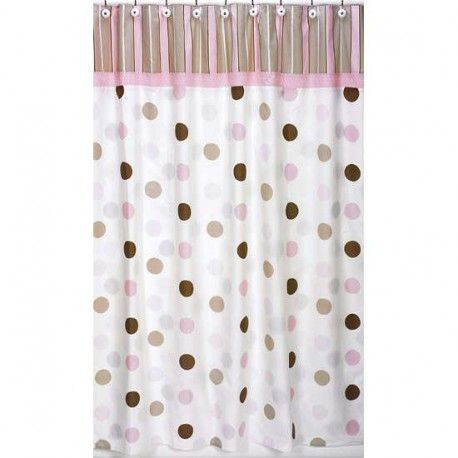 Mod Dots Pink Shower Curtain