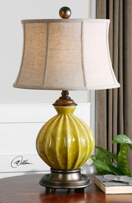 Provence Yellow Ceramic Lamp DesignNashville.com. Transitional Lamp Collection