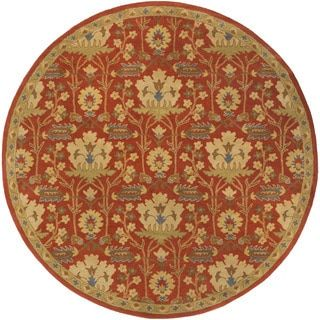 Shop for Hand-Tufted Widnes Floral Wool Rug (8' Round). Get free shipping at Overstock.com - Your Online Home Decor Outlet Store! Get 5% in rewards with Club O!
