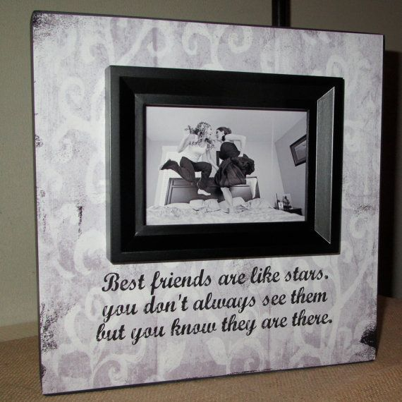 best friend best friends picture frame poem quote bridesmaid gift best friend gift maid of honor gift picture frame 10x10 friends frame