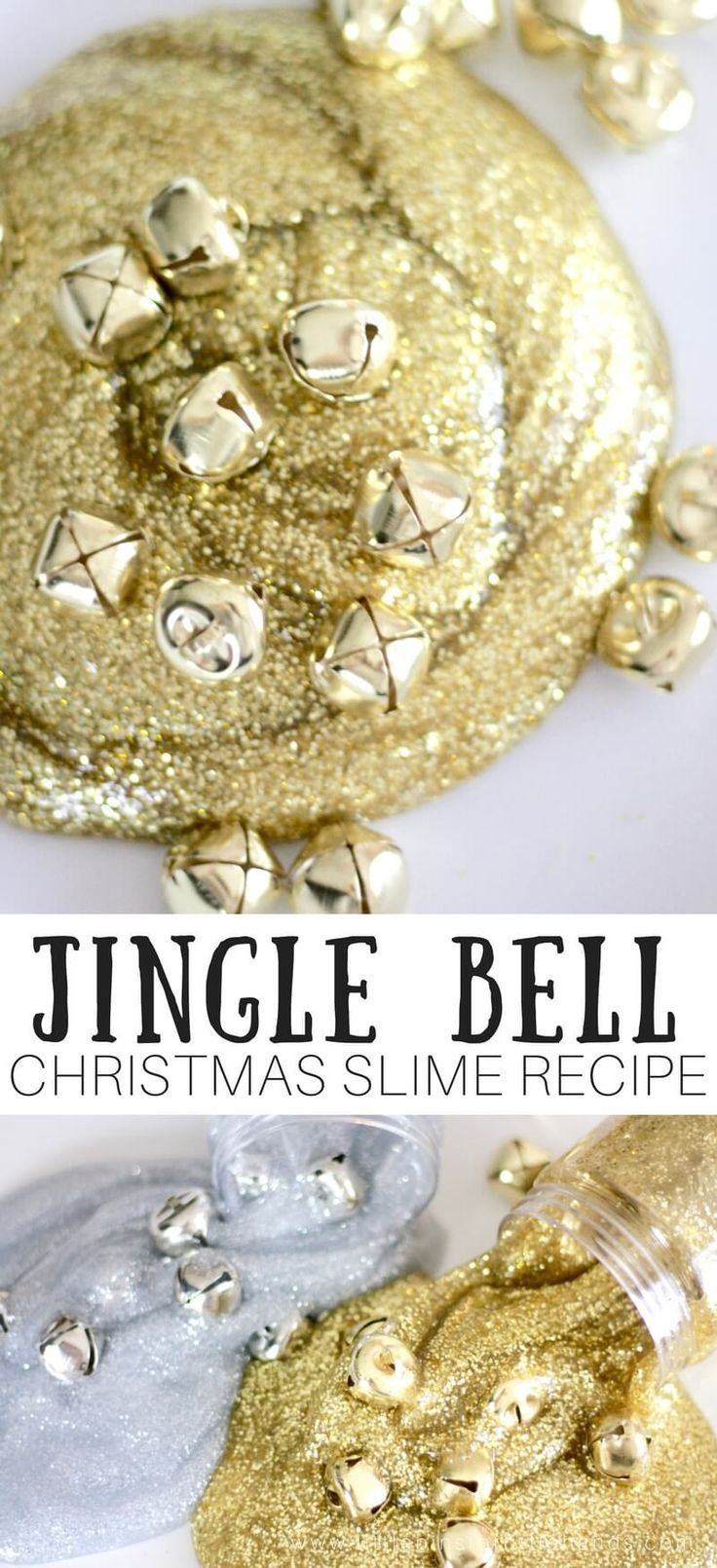 Festive Homemade Jingle Bell Christmas Slime Recipe for Kids