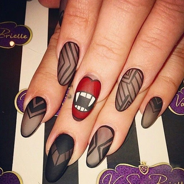 174 best halloween nail art images on pinterest ps fun and makeup vsbnailboutiques photo on instagram love the matte finish on these vampire teeth nails prinsesfo Choice Image