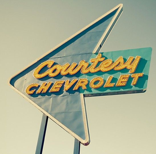 Courtesy Chevrolet classic sign