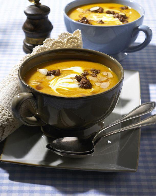 Die Suppe servieren Serviervorschlag