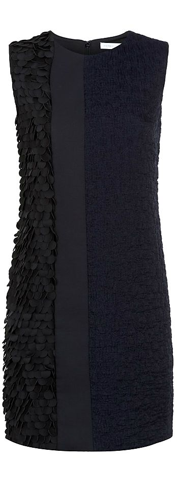 The middle piece should have the textured material. I like the idea. Victoria Beckham ●Textured Shift Dress