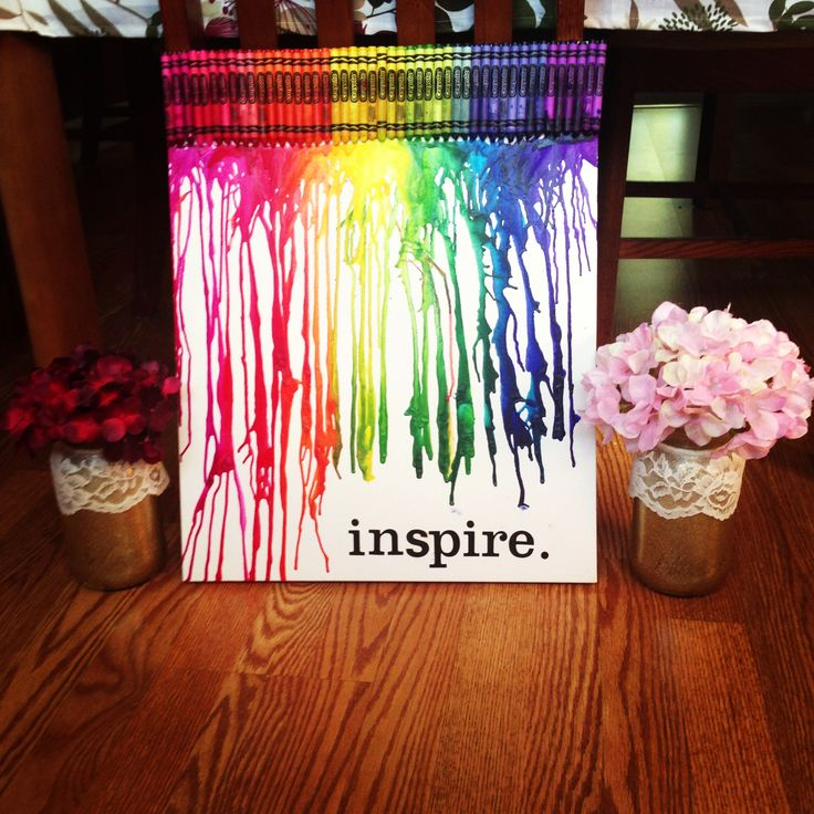 how to make melted crayon art with words