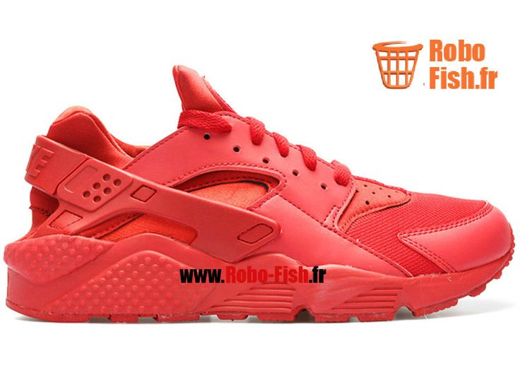 "Nike Air Huarache ""triple rouge"" - Chaussure Nike Running Pas Cher Pour Homme Varsity/Rouge 318429-660"
