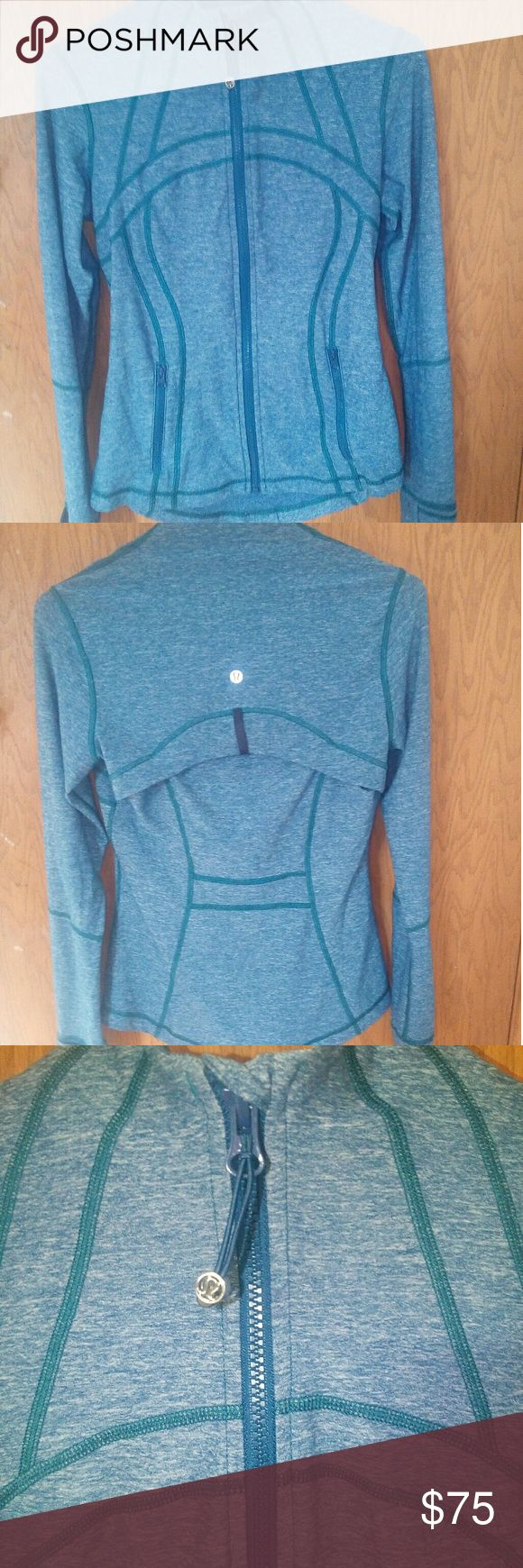 Lululemon Define Jacket - Define jacket from Lululemon athletica - WORN ONCE!!!!  - This jacket is size 6, but the tag that says the size has been removed. - This jacket has finger holes on the sleeves -  Layer on this warm lightweight jacket before you hit the hiking trails or head to the studio. lululemon athletica Tops Sweatshirts & Hoodies