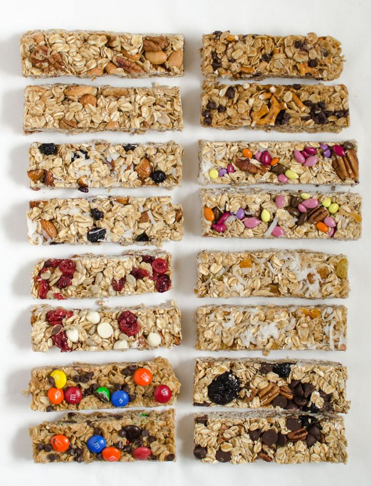 Looking for the perfect homemade granola bar recipe? I have you covered with 8 amazing mixin combinations like chocolate peanut butter, blueberry, and more!