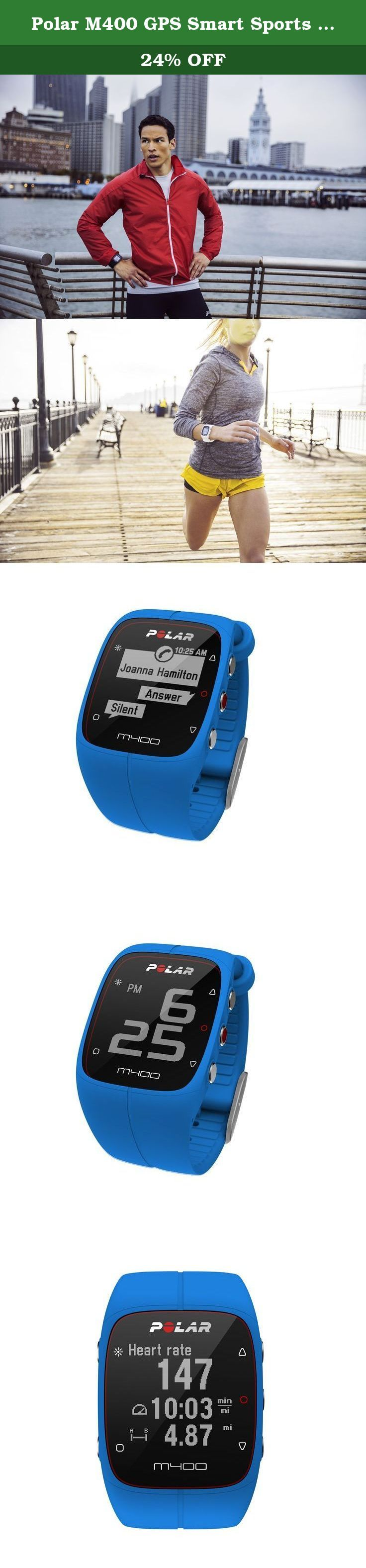 Polar M400 GPS Smart Sports Watch and Fitness Tracker (Blue). M400 is an exceptional blend of sporty design, integrated GPS and advanced training features. It takes the best of wearable activity trackers, integrates full GPS and advanced training features and provides you with meaningful data that helps you make improvements in your lifestyle and training PROGRAM. Lightweight and compact, M400 is designed to be worn all day. With its high-contrast and High-Resolution display, M400 is the...
