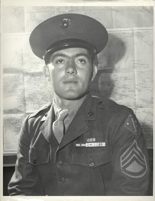 John Basilone, the hero of Guadalcanal, died in battle in Iwo Jima, 1945. Another total badass and great man
