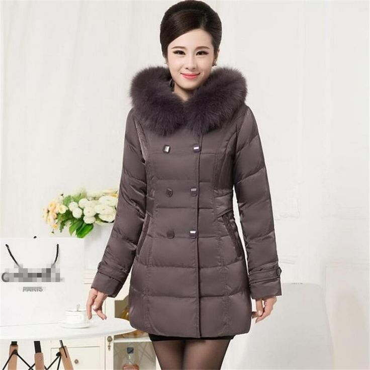 ==> [Free Shipping] Buy Best 2016New Arrival Women's Parkas Middle-Aged Down Slim Pluse Size Thick Parkas Fur Collar Icea Bear Warm Winter Long Parkas A2261 Online with LOWEST Price | 32766762000