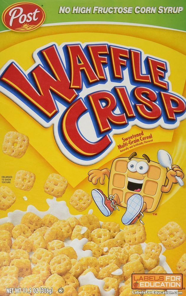 Waffle Crisp Cereal 11.5 Oz (Pack of 2) Post Cereal #PostCereal