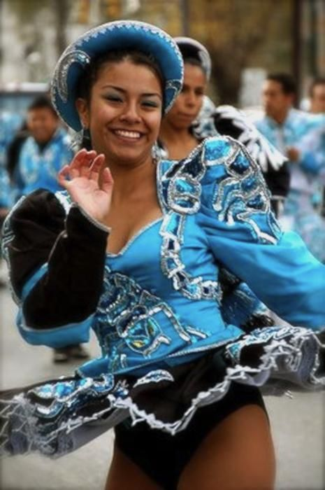 The youthful, lively, sensual and energetic dance Caporales. Peru