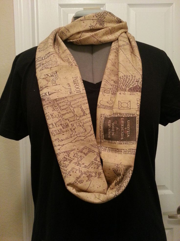 Marauder's Map Infinity KNIT scarf - made to order. $40.00, via Etsy.