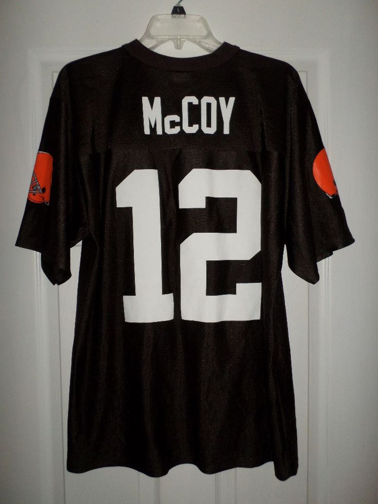 Men's Brown, Orange, White CLEVELAND BROWNS #12 COLT McCOY NFL Jersey, Size M #NFLTEAMAPPAREL #ClevelandBrowns