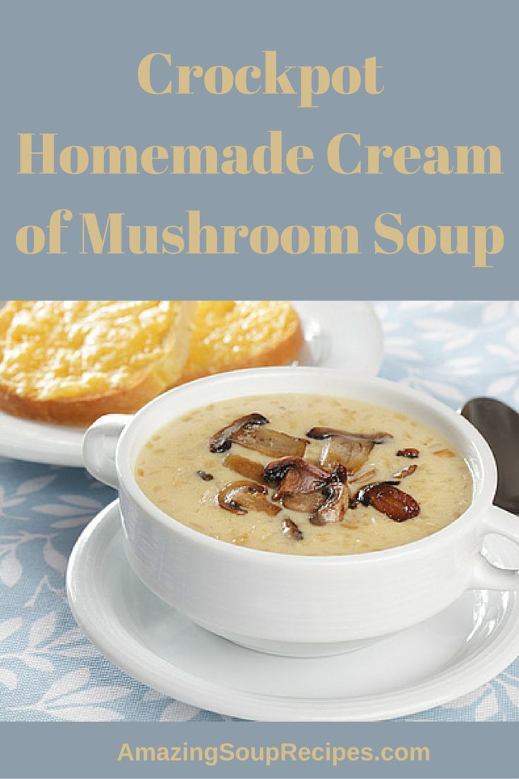 This crockpot recipe for mushroom soup uses four kinds f mushrooms to give it a distinct earthy taste and is so easy most of the work is done in the crockpot.