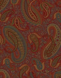 MG33016 - The Modern Gentleman. Red paisley wallpaper. $29.40 per single roll.
