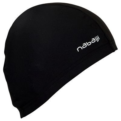 #gorro de punto negro - concebido para la practica regular de #natación http://www.decathlon.es/gorro-de-punto-negro-id_8277366.html