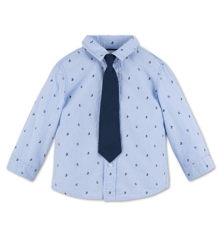 Baby-Hemd aus Bio-Baumwolle in hellblau