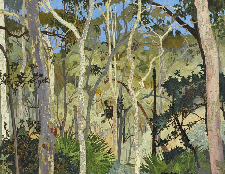 Cressida Campbell (Australian, b. 1960), Eucalypts, 1999. Woodblock, 65.8 x 85.9…