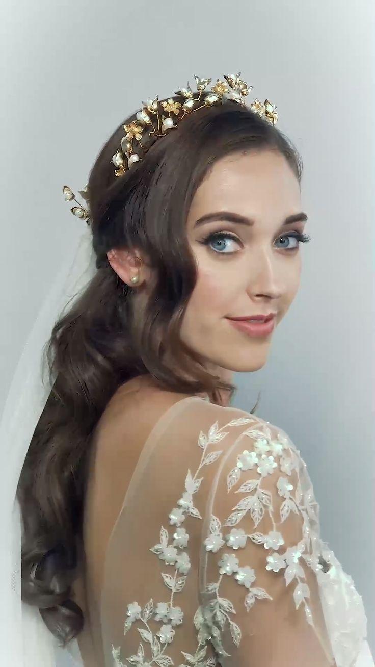 REIGN CROWN AND PINS BY HERMIONE HARBUTT-wedding hair accessories, wedding fashion, bridal hair