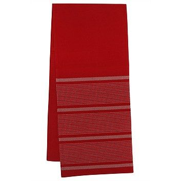 Briscoes - Just Home Stanton Red Table Runner
