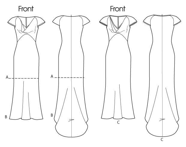 B5710 Designed for soft to lightweight woven fabrics. FABRICS: Faille, Crepe, Satin.