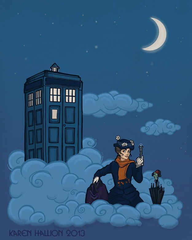 """10 Disney Heroines Chosen To Be """"Doctor Who"""" Companions. Although, Mary Poppins is totally the Doctor."""