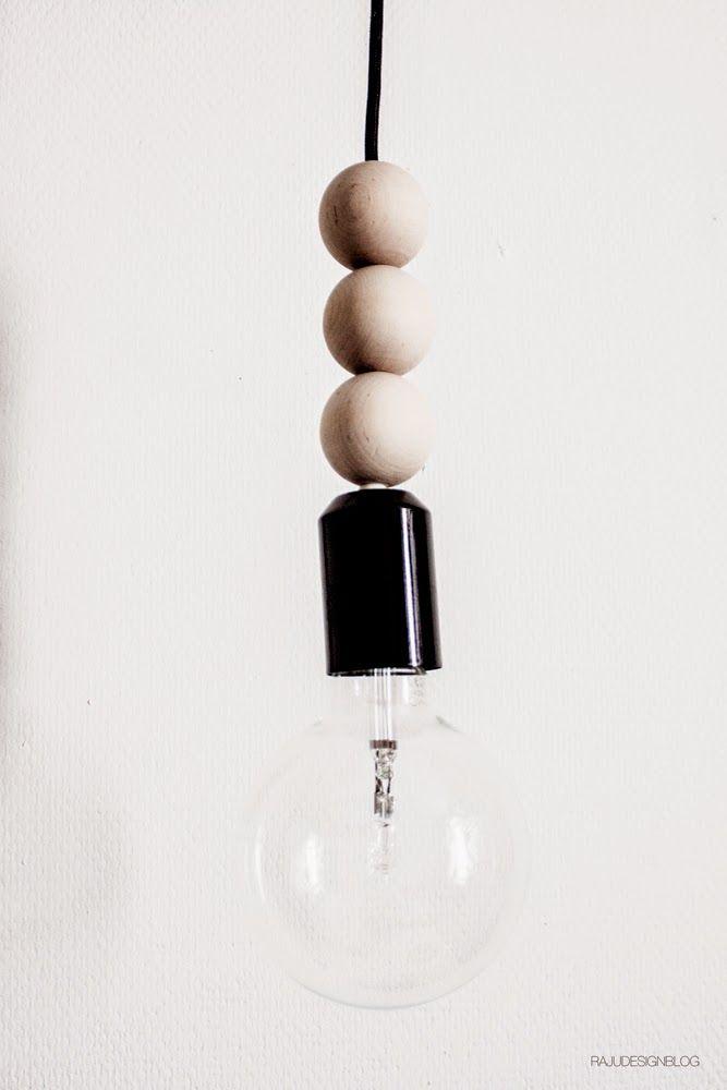 Quick DIY for bulb lamp by rajudesignblog.blogspot.com