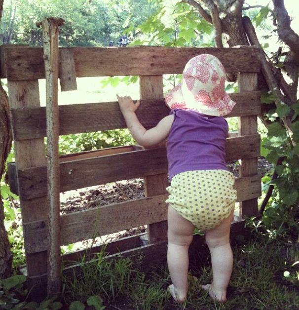 Karla in the garden