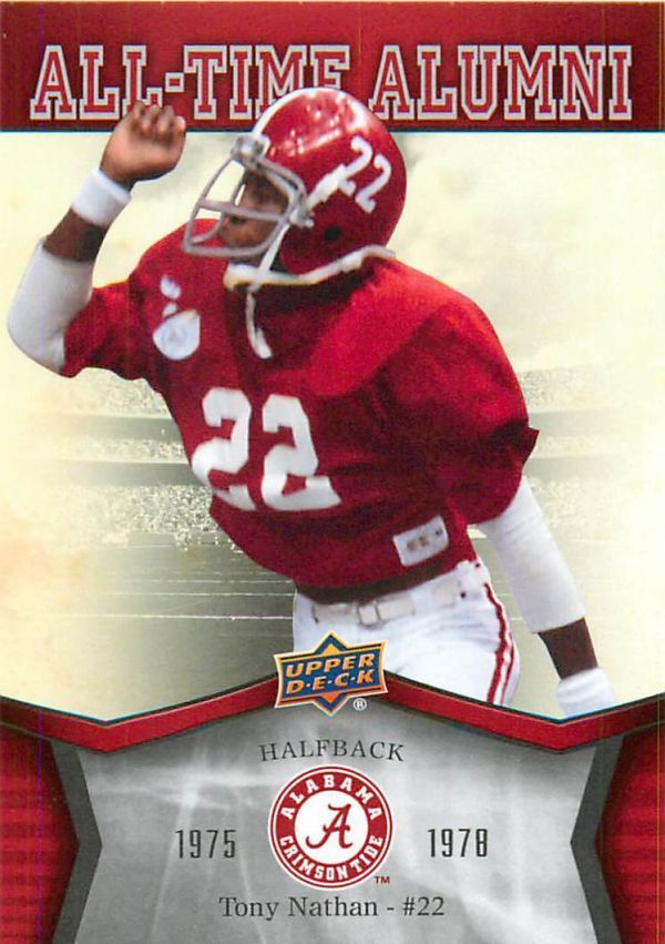2012 Upper Deck Alabama All Time Alumni #ATATN Tony Nathan #Alabama #RollTide #BuiltByBama #Bama #BamaNation #CrimsonTide #RTR #Tide #RammerJammer