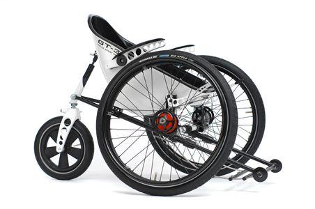 Trekinetic GT-3 (Handbewogen Off-Road rolstoel Manual Off-Road Wheelchair)
