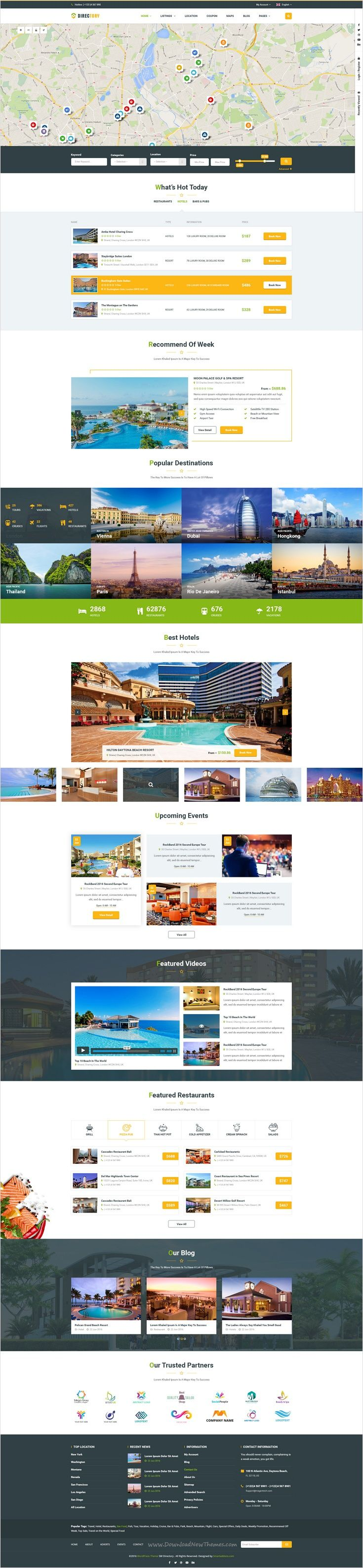 Directory is a modern & creative design #directory listing #PSD #template for #hotel, restaurant, real estate company, education website with 5 unique homepage layouts and 23 organized PSD pages download now➩ https://themeforest.net/item/directory-directory-and-listings-psd-template/17499533?ref=Datasata