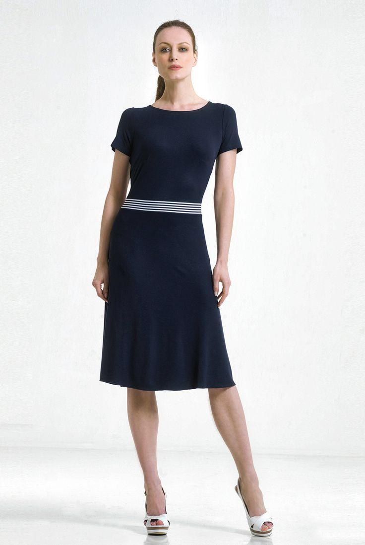 ...navy blue...and striped bow back