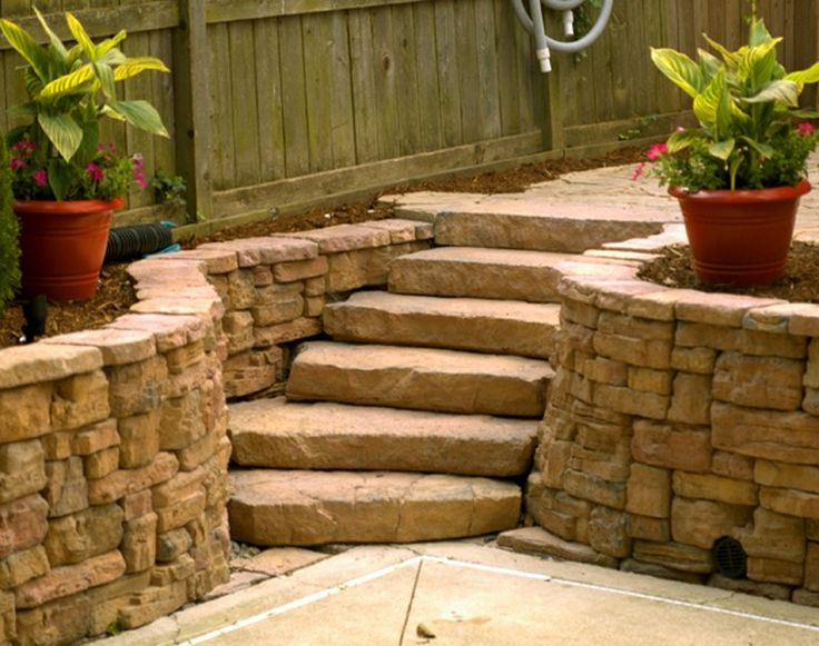 Faux Stone Steps Pretty Realistic Outdoor Living