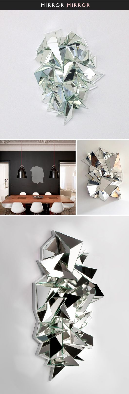 THE JEALOUS CURATOR: ART GOES HERE. / sfgirlbybay {mirror sculptures by mathias kiss}