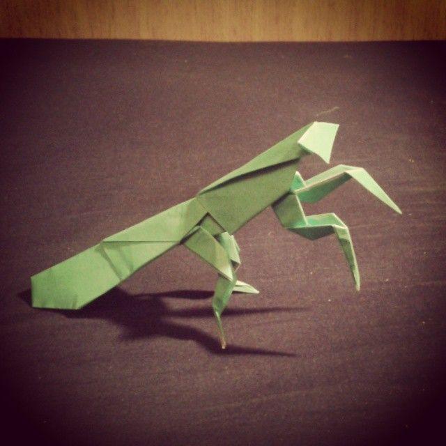 #origami #insect #praying_mantis #mantide_religiosa