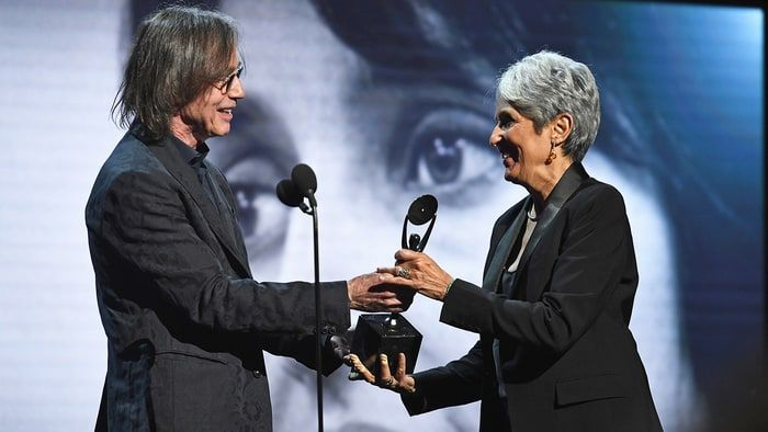 Jackson Browne made his speech inducting Joan Baez into the Rock Hall of Fame deeply personal.