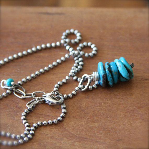 Stacked Turquoise Necklace Southwest Turquoise by RELMoriginals