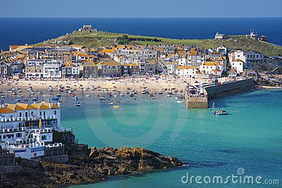 St Ives, Cornwall. Its once busy harbour now a thriving tourist destination, a haven for artists and also home the the Tate Modern gallery