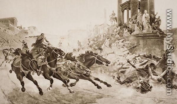 Emperor Nero Competed in The Olympics' Chariot racing With 6 Horses More Than His Competitors