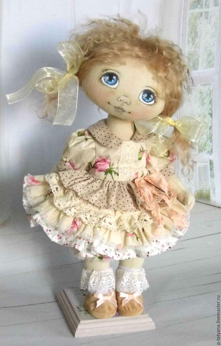 Купить Лидочка. Текстильная шарнирная авторская кукла. - бежевый, текстильная кукла, авторская кукла