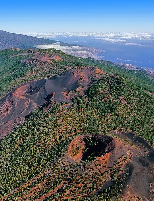 Volcano of Cumbre Vieja, Isla de La Palma, Canary Islands, Spain