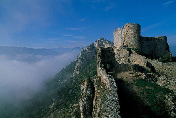Pays Cathare, itinérance de Quéribus à Montségur #TourismeMidiPy #MidiPyrenees #Montsegur